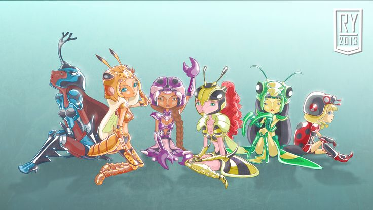 insect armored pixies #illustration #fantasy #character #design #artwork #insect #armor #pixies