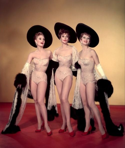Kay Kendall, Mitzi Gaynor and Taina Elg, Les Girls, 1957  Costumes by Orry-Kelly