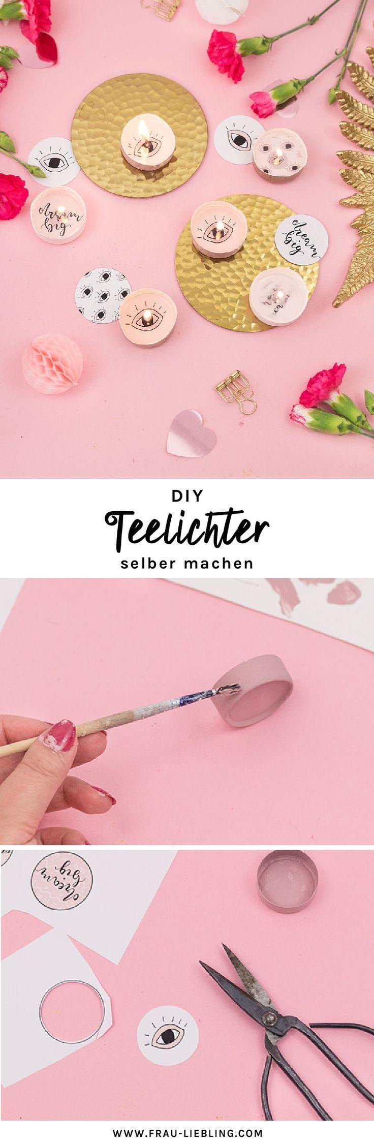 DIY Teelichter mit versteckter Botschaft selber machen – Frau Liebling – DIY Deko, Geschenke und Lettering mit Herz