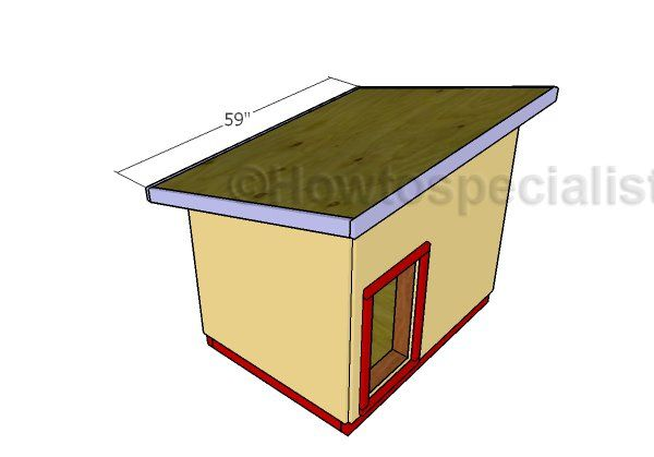 Large Dog House Roof Plans Howtospecialist How To Build Step By Step Diy Plans Large Dog House Dog House Diy Dog House Plans