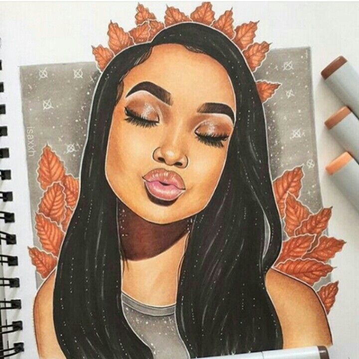 how to draw black girl