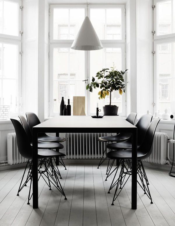 ❤️ dining room white wooden flooring bay window nook lighting