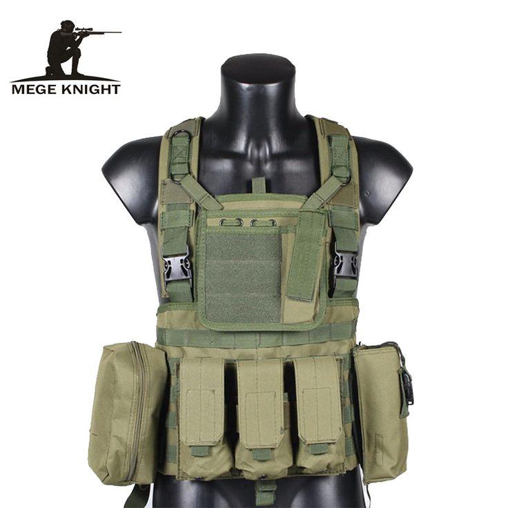 MEGE Tactical Vest Military Airsoft Camouflage Uniform, Combat Vest Amy Clothing US Navy Seal Colete Tatico Python Chaleco  #Affiliate