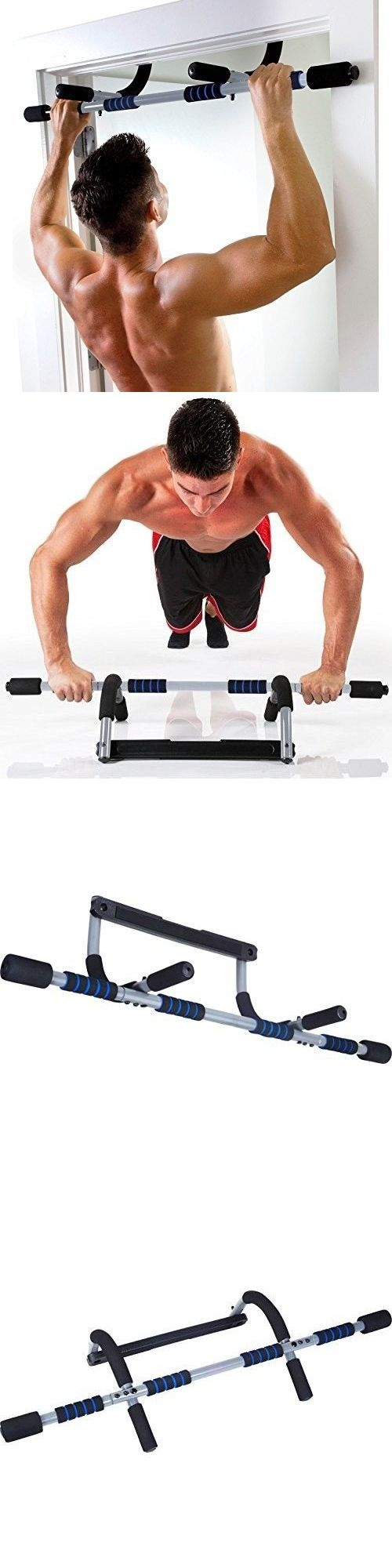 Abdominal straps crunch weight lifting door hanging gym chinning - Pull Up Bars 179816 Doorway Pull Up Bar Chinup Fitness Weight Training Workout Upper Body
