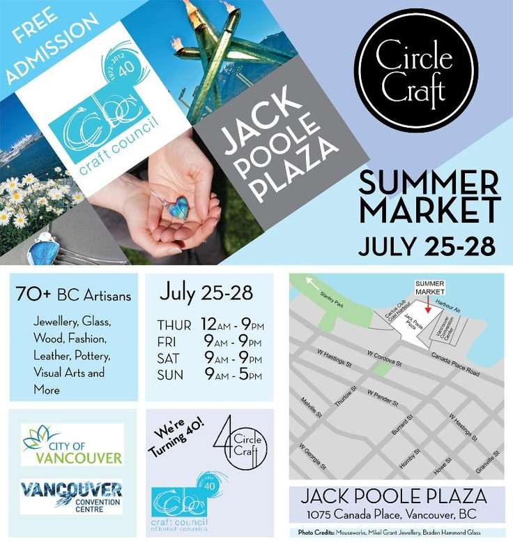 The first ever Circle Craft - Craft Council of BC summer show!