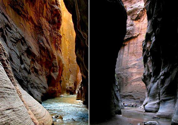 Az amerikai egyesült államokbeli Zion Nemzeti Parkban található The Narrows szurdok