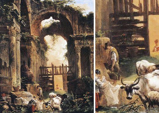 Fantaisie romaine - Hubert Robert - 1760 - Worcester, Museum of Art