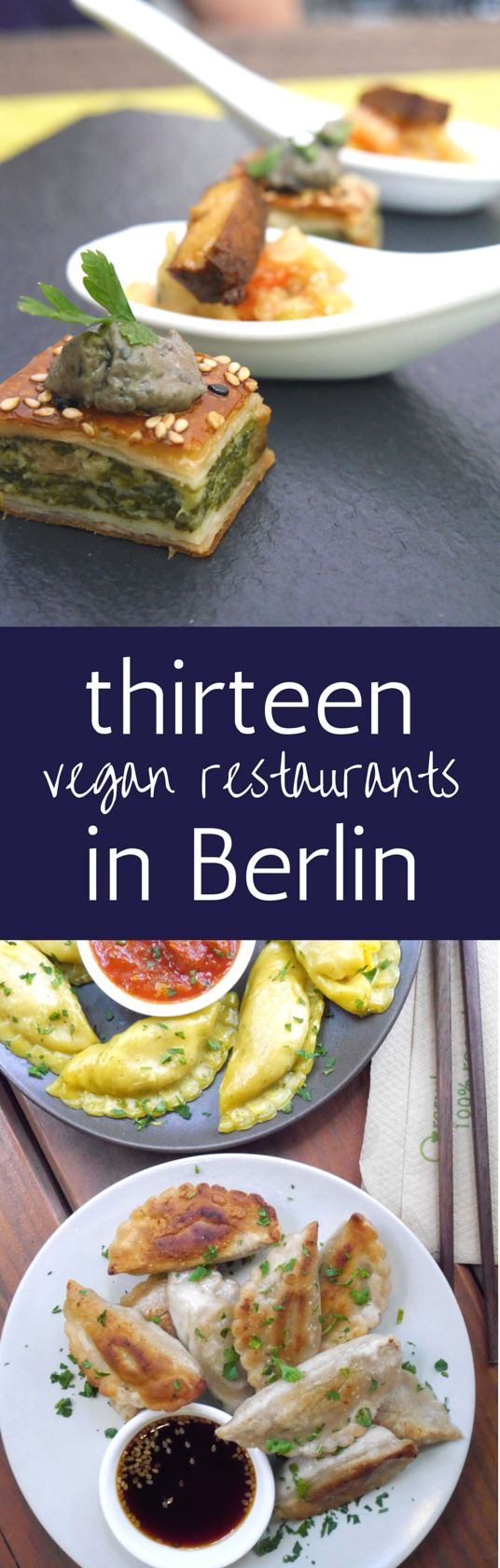 It's easy being vegan in Berlin thanks to the number of vegetarian and vegan restaurants available. Many of them are great, but here are 13 fantastic ones.