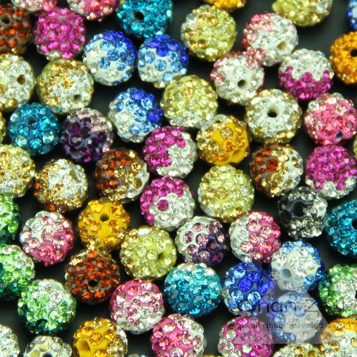 Бусины 10 мм аксессуары градиент цвета бусины питания шарм дискотечный шар шамбалы бусины изготовления ювелирных изделий подходит для вязания браслет