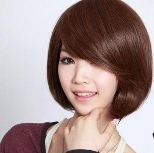 Natural Parrucca pelucas BoB sintética pelo corto negro para mujer pelucas con flequillo marrón claro marrón oscuro peluca 30 cm cortes de pelo corto cabello