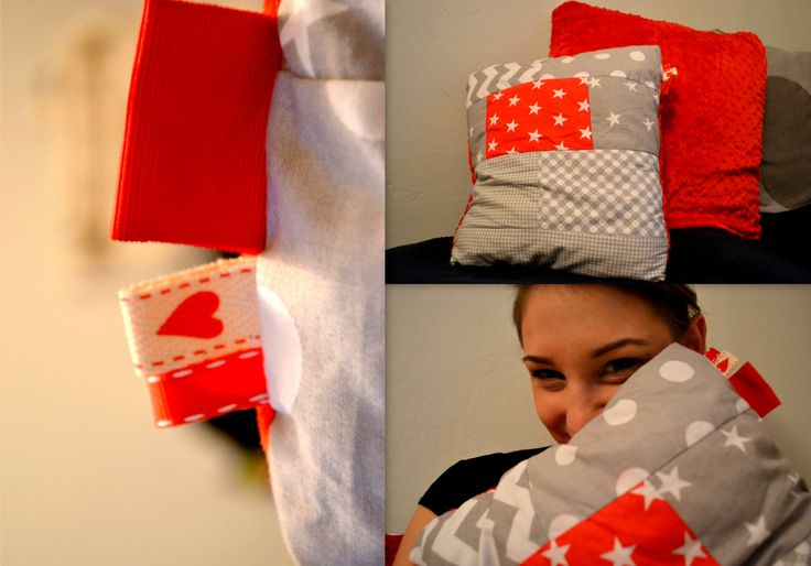 Patworkowe poduszki z minky