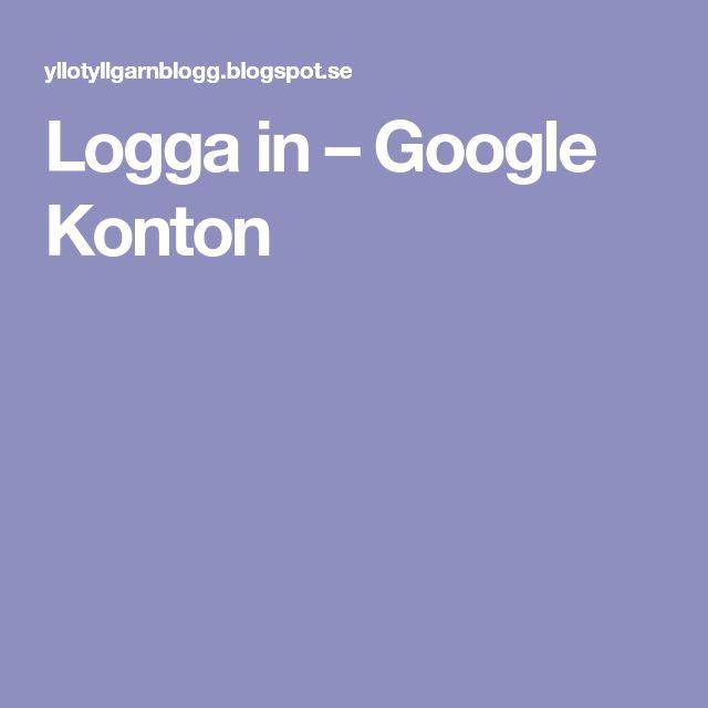 Logga in – Google Konton