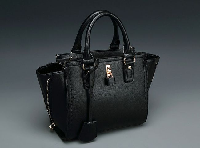 Black Shoulder Bags European Fashion Women Shoulder Bags Casual Pure Colors Mid Soft Zipper Black Shoulder Bags Discount Online Shopping