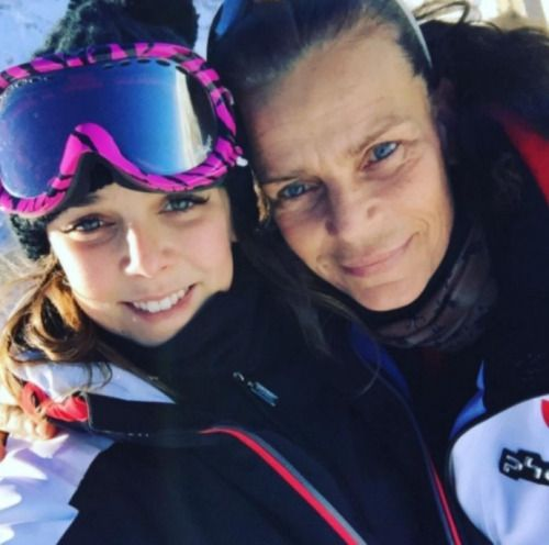 anythingandeverythingroyals:  Pauline Ducruet posted a photo on Instagram of herself with her mother Princess Stephanie, December 2016