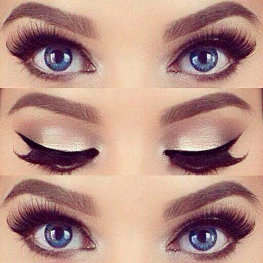 Beautiful make up for blue eyes