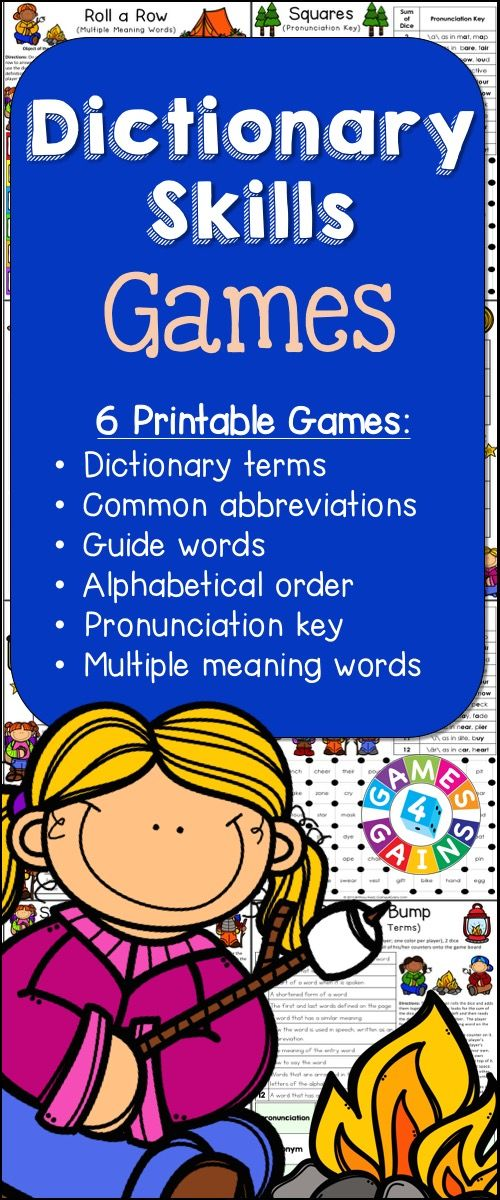 Dictionary Skills Games contains 6 fun and engaging printable board games to help students to practice various dictionary skills. These games are so simple to use and require very minimal prep. They are perfect to use in literacy centers or as extension activities when students complete their work!