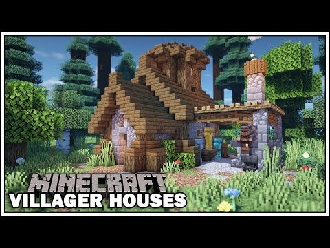 Minecraft Villager Houses THE ARMORER [Small Blacksmith Tutorial] YouTube in 2020 Minecraft Minecraft blueprints Minecraft construction