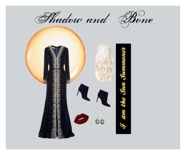 """Shadow and Bone"" by bookfashiondesigner on Polyvore featuring Diesel, Oscar de la Renta, Sam Edelman, Lime Crime and NOVICA"
