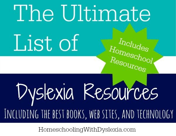 An extensive list of resources for dyslexic families.