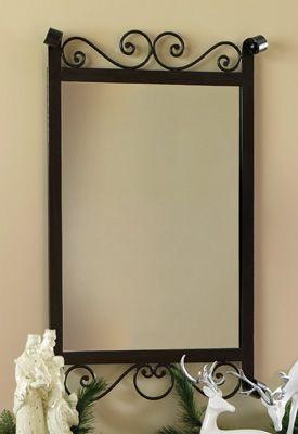 "Black Scroll Metal Wall Mirror   32"" x 20""  $19.97 - savings of 60%!"
