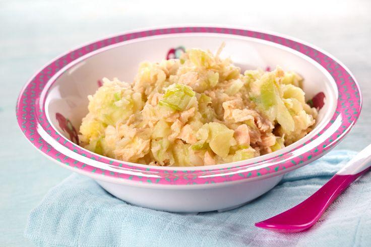 Tover je traditionele quiche met prei en zalm om tot iets speciaals en voeg er krielaardappelen, dille en limoenzeste aan toe. Ook je baby vanaf 6 maanden eet mee. In pureevorm en zonder de room en limoen.