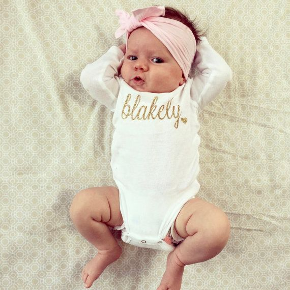 Baby Girl Name Baby Girl Name Outfit Baby Girl by CuterThanWords