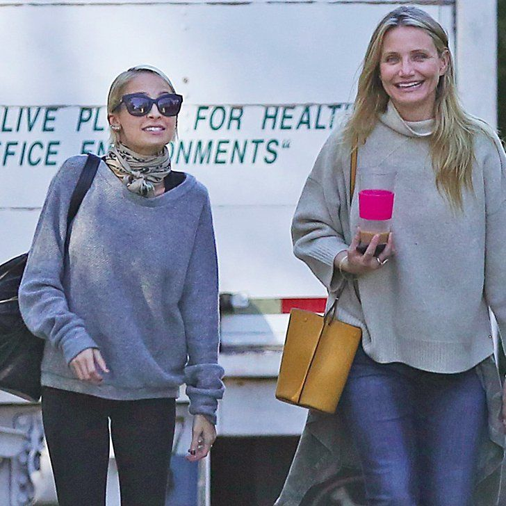 Sisters-in-Law Cameron Diaz and Nicole Richie Share a Laugh While Shopping in LA