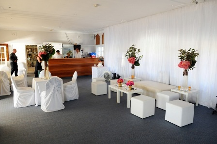 ALFRESCO CHAIRS & CHAIR COVERS, WHITE OTTOMAN BENCH AND CUBES @ Manly yacht club http://www.avapartyhire.com.au/product/chairs-for-hire Call us on 9938 5599 for a quote