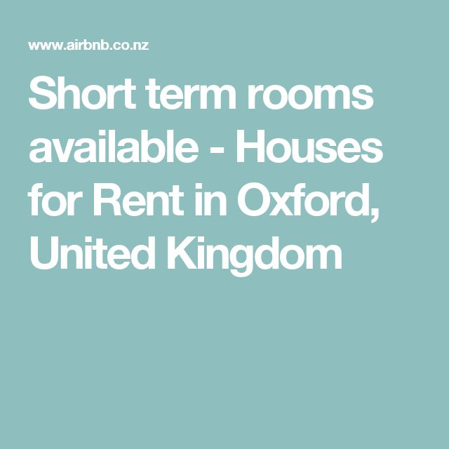 Short term rooms available - Houses for Rent in Oxford, United Kingdom