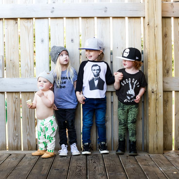 Noe & Zoe cactus leggings & Tiny Whales Good Days Always tee - hip baby clothes - 2016 kids clothing trends
