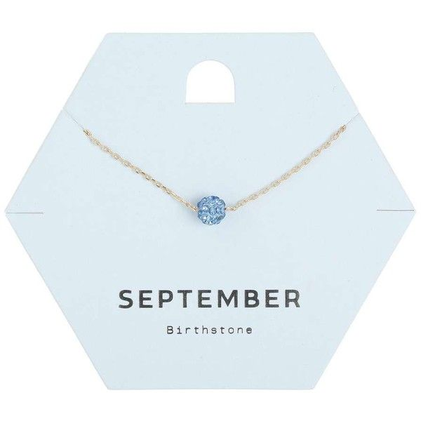 Miss Selfridge September Birth Stone Necklace ($6) ❤ liked on Polyvore featuring jewelry, necklaces, fillers, navy, stone necklace, stone jewellery, stone jewelry, navy blue necklace and navy jewelry