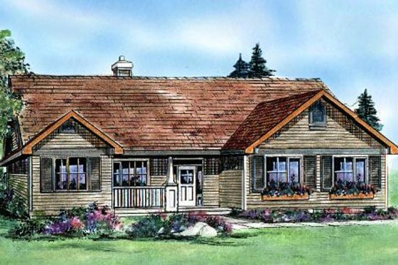 House plan 427 5 1550 sq ft 3 bed 2 bath side load for Side load garage ranch house plans