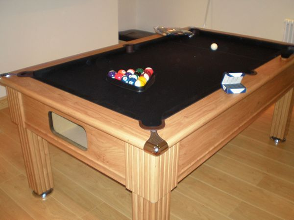 Slimline Prince 6ft Pool Table in Oak 5