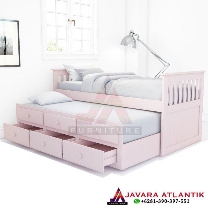 Tempat Tidur Anak Double Bed Sorong Minimalis Ranjang Tidur Terbaru Tempat Tidur Laci Tempat Tidur Anak Dekor