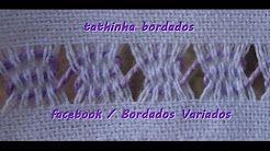 Tathinha Bordados #69 - PONTO BASTILHA - PONTO ALINHAVO - YouTube