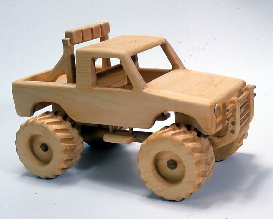 WOODEN CARS | Monster 4x4 Toy Truck Plan | Woodworking ...