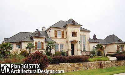 Dramatic Manor Home Plan - 36157TX thumb - 13