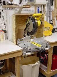 Resultado de imagen de mitre saw dust collector