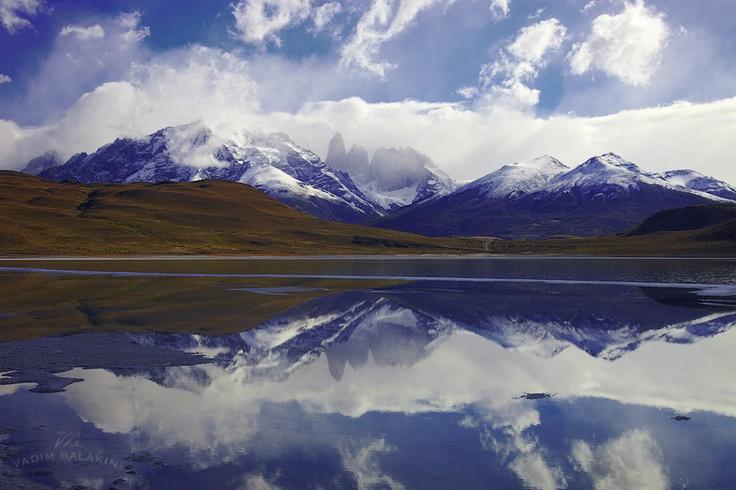 Laguna Azul Lake, Torres del Paine National Park, Chile