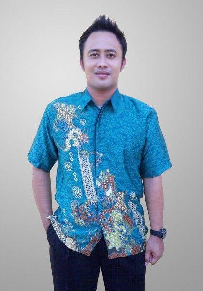 Baju Batik Sunwash Pria Modern Motif Abstrak Semi Sutra Kode BS 40 Kirim SMS ke 082134923704