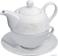 Tolle #Teekanne im #Set bestehend aus einer #Teetasse, einem Kännchen und #Untersetzer aus #Porzellan. Auf der #Teekanne könnte Ihre Werbebotschaft stehen. Perfekt für Ihren #Teeladen, #Teehaus, Anbieter aus dem Bereich #Gesundheit etc. #giveaway