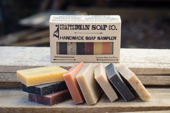 Natural Bar Soap Sampler // Handmade, Vegan, and Palm-Free // Scented with Essential Oils & Extracts // Gifts for Men
