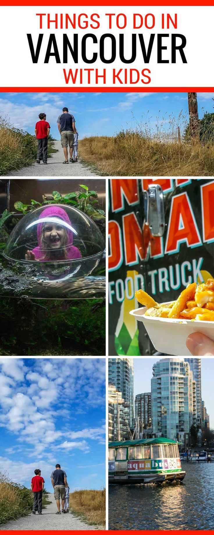 Things to do in Vancouver with Kids There are hundreds of things to do in Vancouver with the kids, from indoor fun like the Vancouver Aquarium, to outdoor adventure by the ocean, to thrill seeking fun on the Lynn Canyon or Capilano suspension bridge. | Vancouver Travel | Vancouver BC Canada | Vancouver with kids | Vancouver with Family #Vancouver #BC #travel
