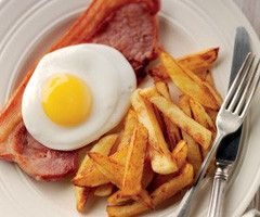 Gammon, egg and chips Gammon steak served with a fried egg and freshly cooked chips.   Read more: http://www.thegardencentregroup.co.uk/restaurant-offers/june13#ixzz2X8zusPHs