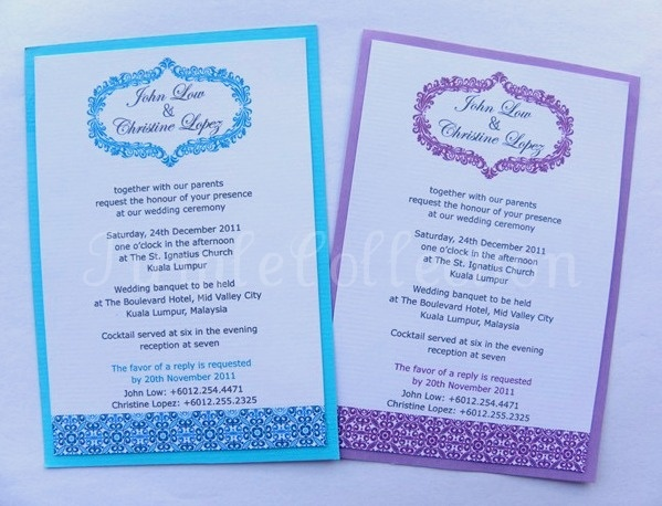 23 best Invitation cards images on Pinterest Wedding invitation - fresh invitation card wedding singapore