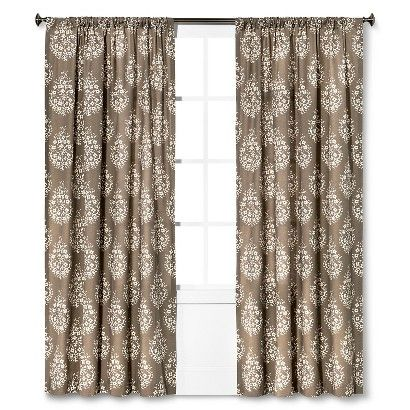 Threshold™ Paisley Curtain Panel For the bedroom window??