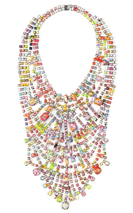 Shop A Riot (Of Colour) Large Bib Necklace by Tom Binns for Preorder on Moda Operandi