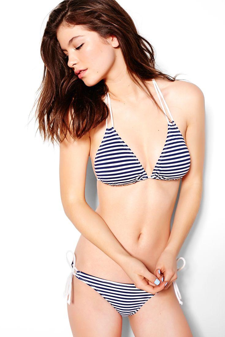 Sailor Striped Underwire Swim Top & Side Tie Swim Bottom