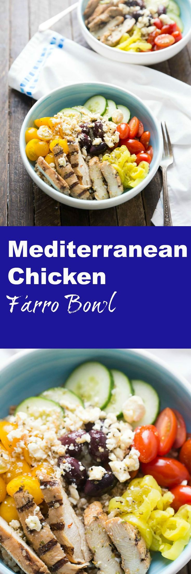 This Mediterranean chicken bowl will be one of those meals you turn to over and over again when you want something easy and healthy! This bowl is filled with so many flavors, it is absolutely delicious! lemonsforlulu.com via @Lemonsforlulu