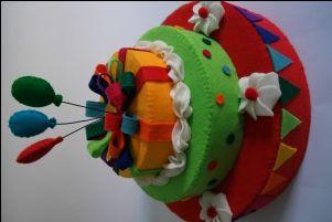 taart van vilt, felt cake, webshop het Vrolijke Nest